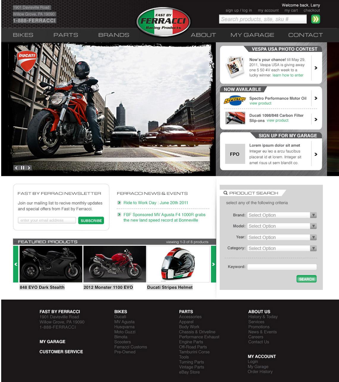 ferracci website design